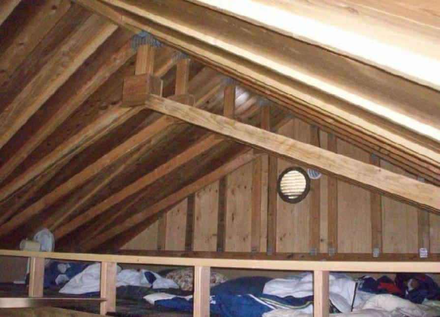 Kepler Creek Interior - Loft Bedroom Area Attic area