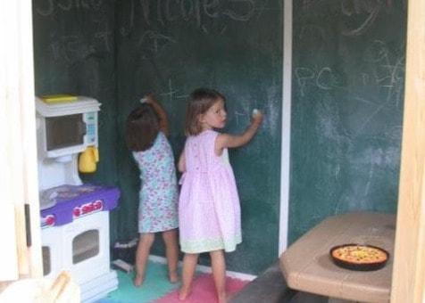 Chalkboard Wall Inside Summerwood Playhouse