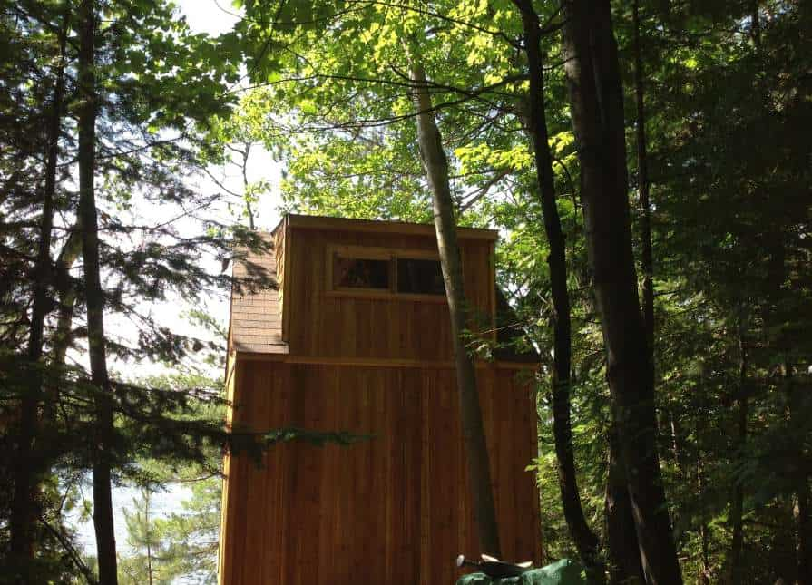Back View of the Bala Bunkie - Summerwood Products