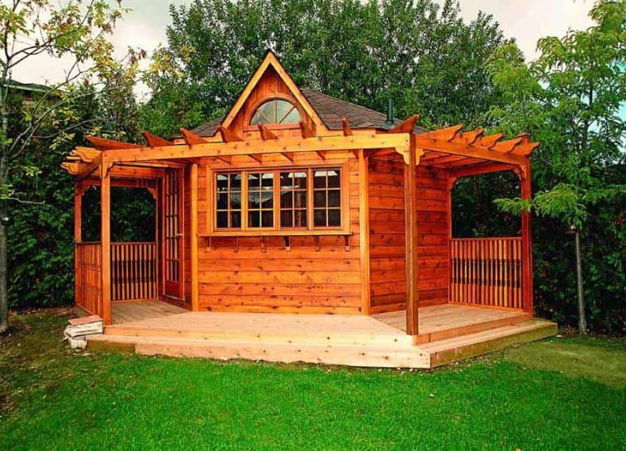 fall storage shed | custom storage shed | backyard storage shed | storage shed toronto |custom storage shed toronto | corner storage shed | modern custom garden shed - Summerwood Products