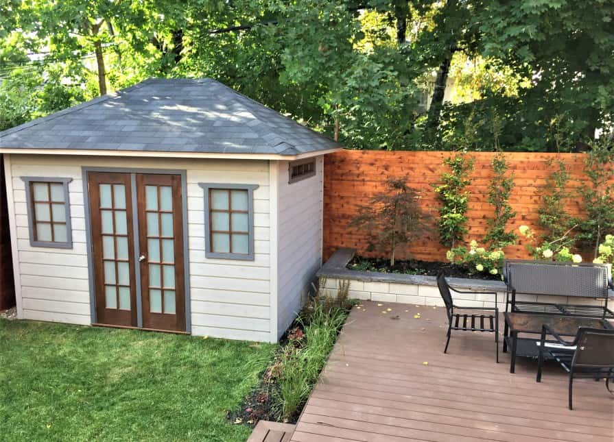 Sonoma Garden Shed, with maintenance-free siding and a gorgeous hip-roof. Summerwood Products
