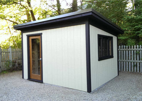 fall storage shed | custom storage shed | backyard storage shed | storage shed toronto |custom storage shed toronto | corner storage shed | modern custom modern garden shed - Summerwood Products