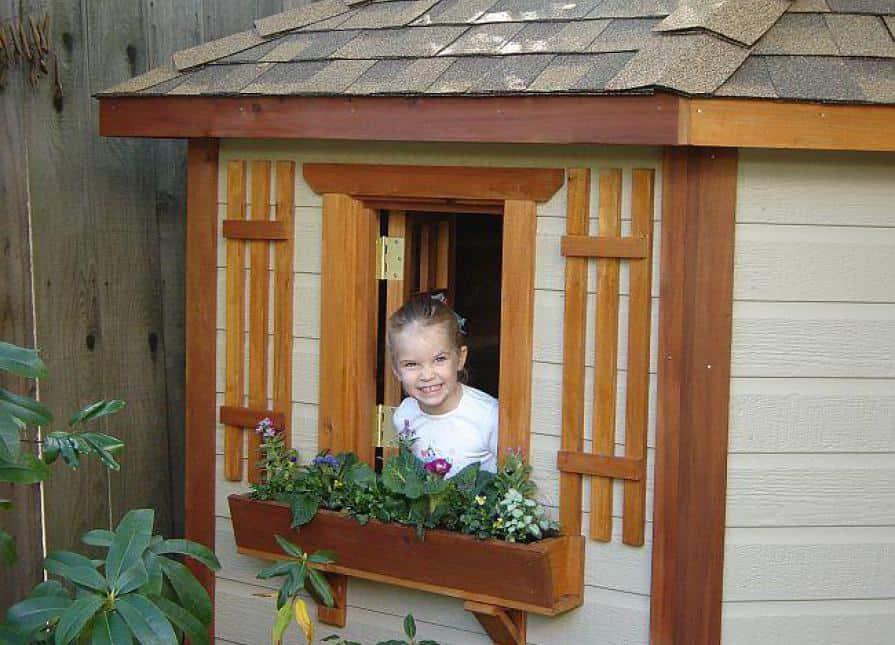 8ft Petite Pentagon Playhouse Exterior - Summerwood Products