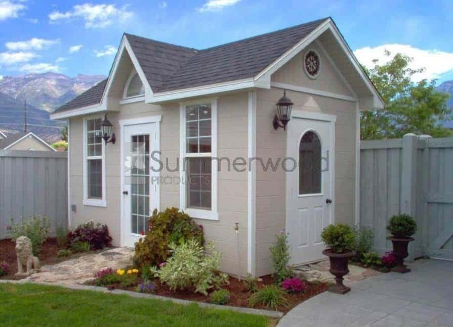 roofing shingles backyard shed - Palmerston Home Studio - Summerwood Products