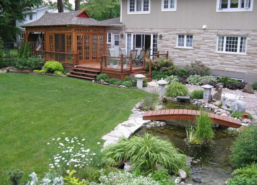 Landscaping Around Bali Tea House | Spa Enclosure - Summerwood Products