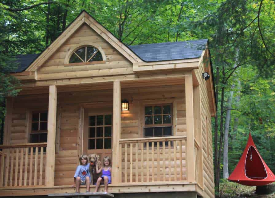 14' x 16' Canmore Log Cabin - Summerwood Products