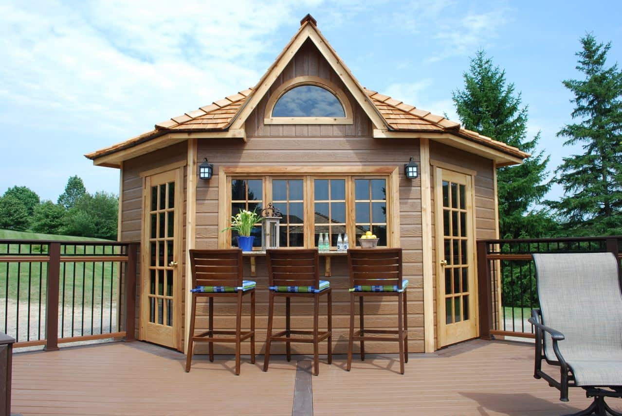 The Catalina: Our 5 Sided Corner Shed - Summerwood Products